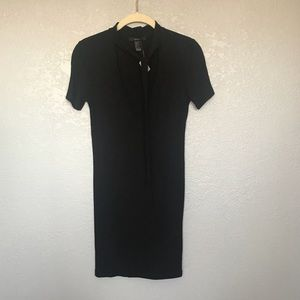 NWT Forever21 Short Black Jersey Dress with Tie M